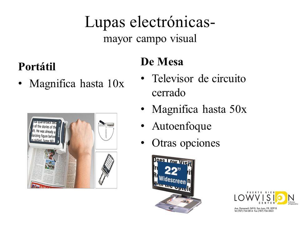 Lupas electrónicas- mayor campo visual Portátil Magnifica hasta 10x De Mesa Televisor de circuito cerrado Magnifica hasta 50x Autoenfoque Otras opcion
