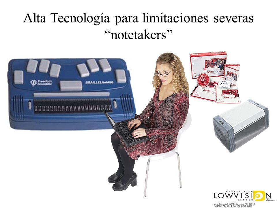 Alta Tecnología para limitaciones severasnotetakers