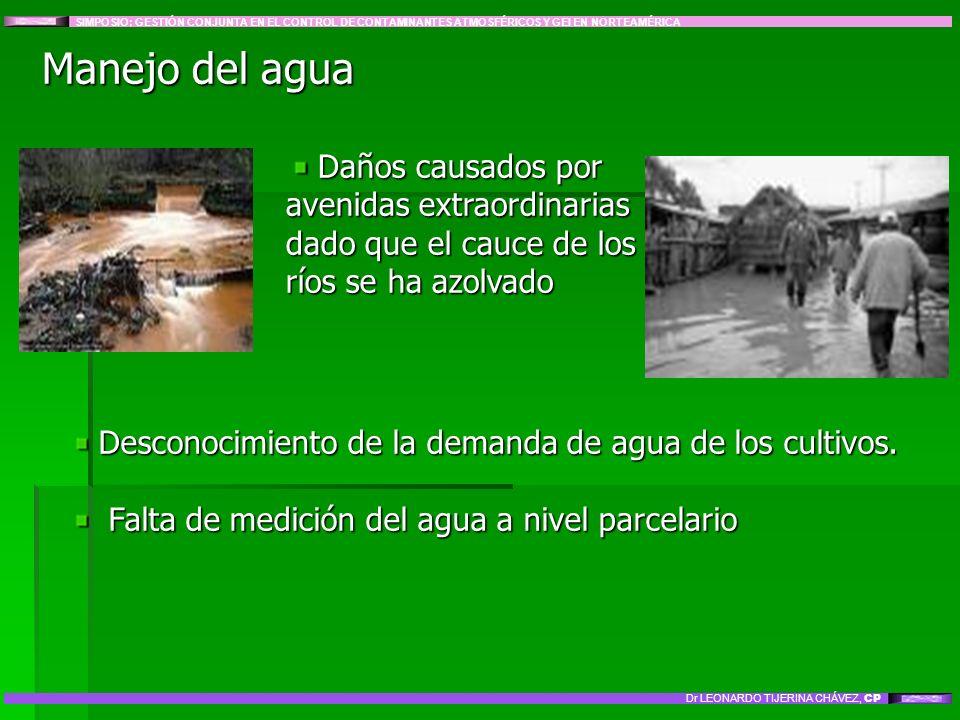 Daños causados por avenidas extraordinarias dado que el cauce de los ríos se ha azolvado Daños causados por avenidas extraordinarias dado que el cauce