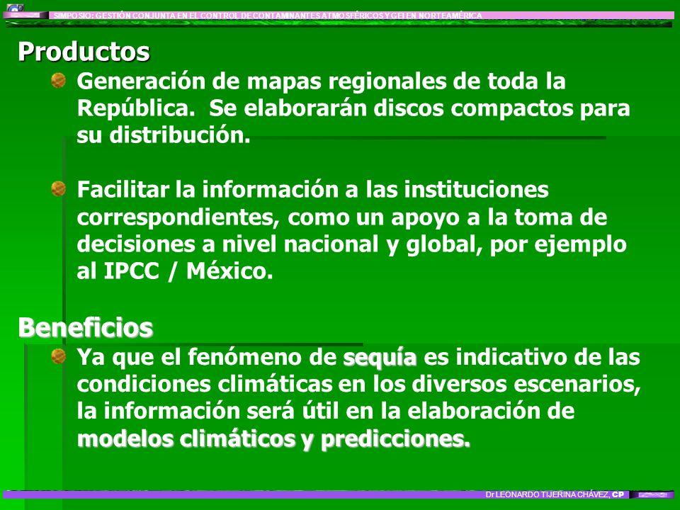LÍNEA DE INVESTIGACIÓN 8: IMPACTO Y MITIGACIÓN DEL CAMBIO CLIMÁTICO GLOBAL: Sector Agropecuario y Forestal Productos Generación de mapas regionales de