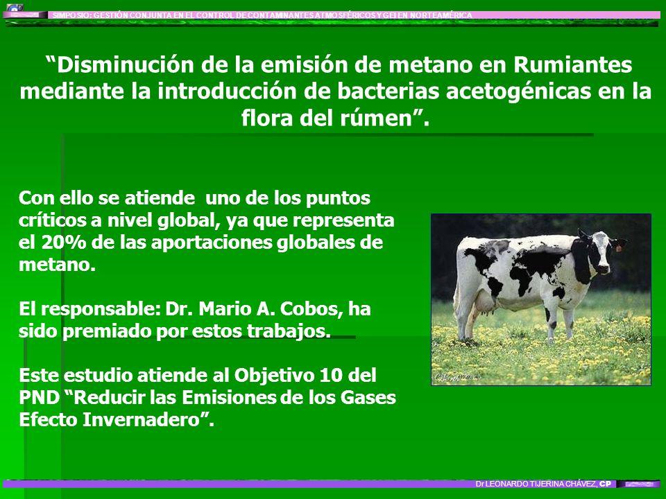 LÍNEA DE INVESTIGACIÓN 8: IMPACTO Y MITIGACIÓN DEL CAMBIO CLIMÁTICO GLOBAL: Sector Agropecuario y Forestal Disminución de la emisión de metano en Rumi
