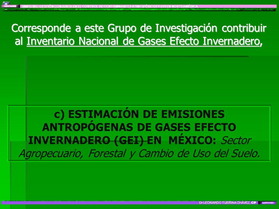 LÍNEA DE INVESTIGACIÓN 8: IMPACTO Y MITIGACIÓN DEL CAMBIO CLIMÁTICO GLOBAL: Sector Agropecuario y Forestal Corresponde a este Grupo de Investigación c
