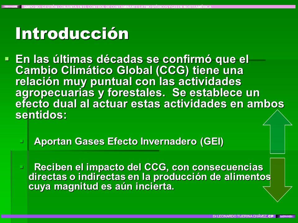 En las últimas décadas se confirmó que el Cambio Climático Global (CCG) tiene una relación muy puntual con las actividades agropecuarias y forestales.