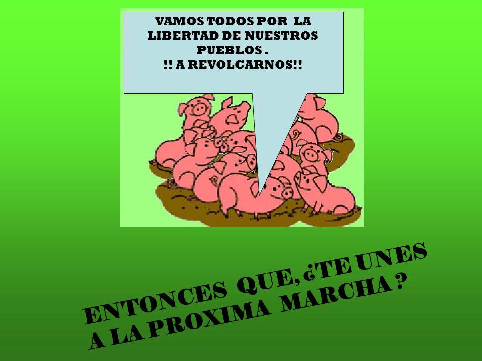 ENTONCES QUE, ¿TE UNES A LA PROXIMA MARCHA ? VAMOS TODOS POR LA LIBERTAD DE NUESTROS PUEBLOS. !! A REVOLCARNOS!!