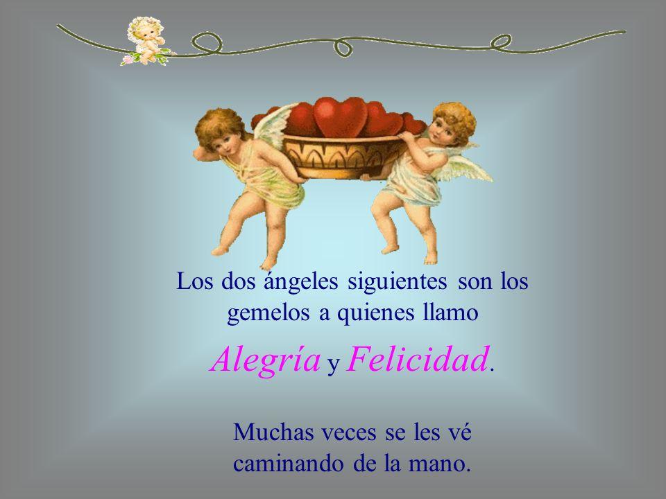 Los dos ángeles siguientes son los gemelos a quienes llamo Alegría y Felicidad. Muchas veces se les vé caminando de la mano.