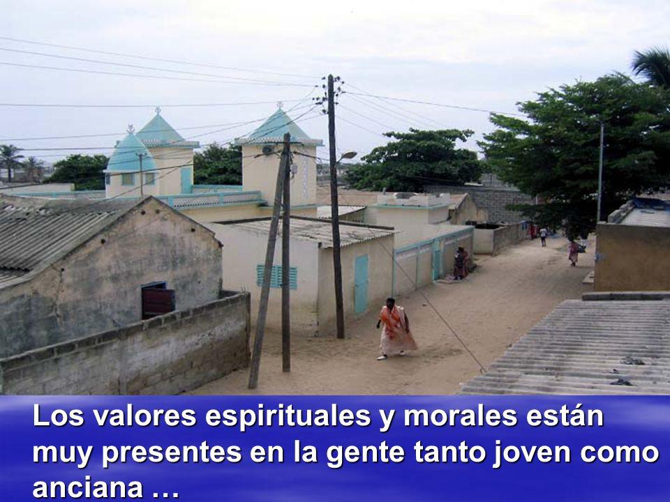 Los valores espirituales y morales están muy presentes en la gente tanto joven como anciana …