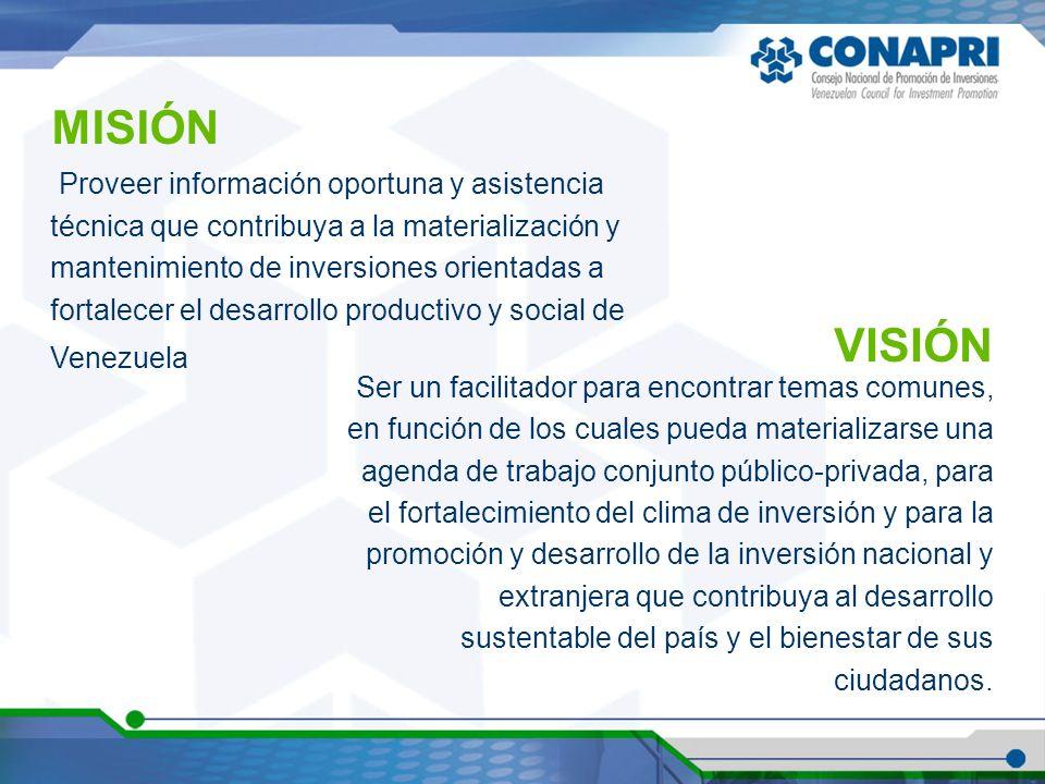 Proveer información oportuna y asistencia técnica que contribuya a la materialización y mantenimiento de inversiones orientadas a fortalecer el desarr