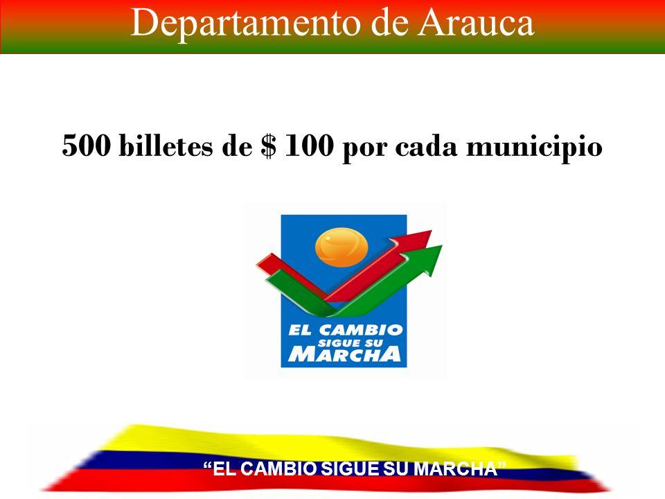 EL CAMBIO SIGUE SU MARCHA Departamento de Arauca 1.
