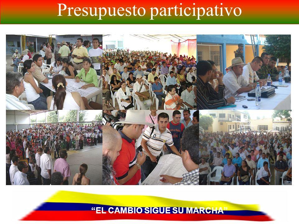 EL CAMBIO SIGUE SU MARCHA Presupuesto participativo