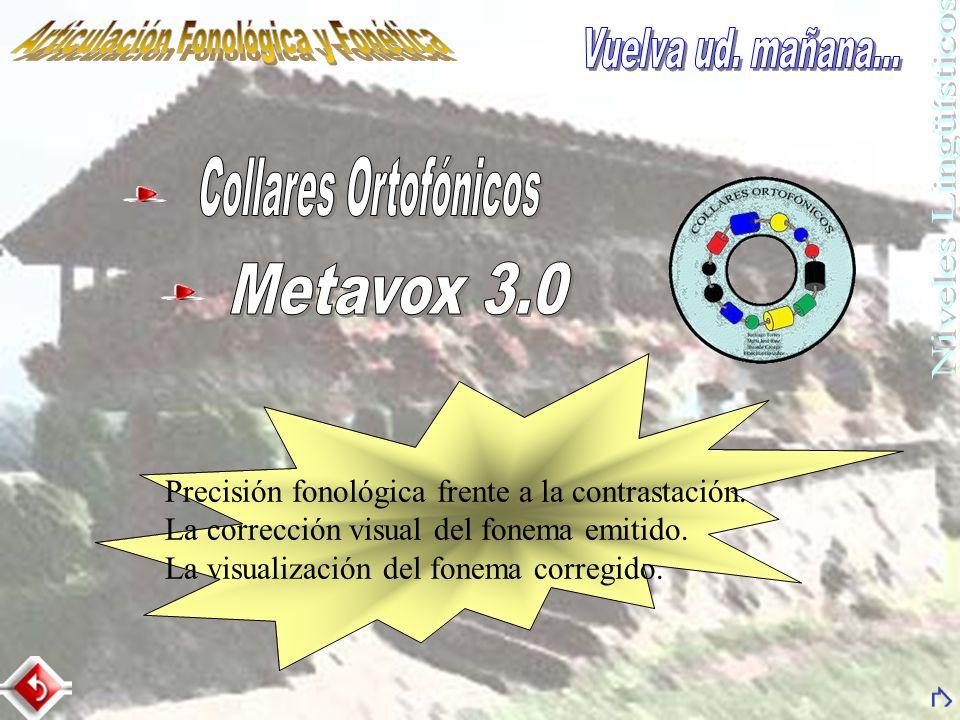 Precisión fonológica frente a la contrastación. La corrección visual del fonema emitido. La visualización del fonema corregido.