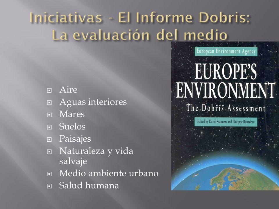 Aire Aguas interiores Mares Suelos Paisajes Naturaleza y vida salvaje Medio ambiente urbano Salud humana