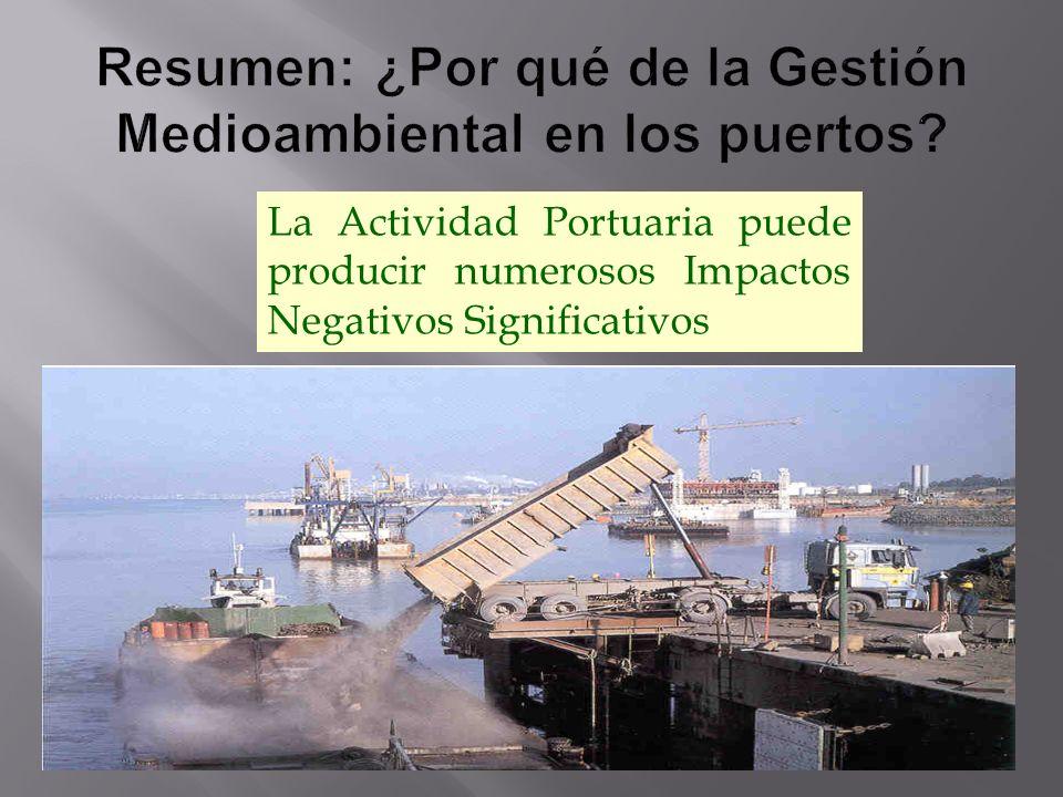 GENERAR UN PUERTO VERDE Puerto VerdePuerto Verde: aquél que puede salvaguardar su Actividad Comercial sin poner en peligro su Futuro El compromiso de los Puertos con el Desarrollo Sostenible DEBE SER: