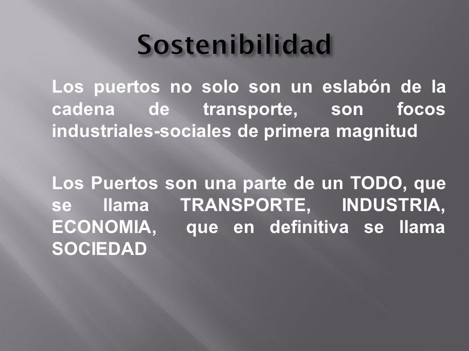 Los puertos no solo son un eslabón de la cadena de transporte, son focos industriales-sociales de primera magnitud Los Puertos son una parte de un TOD