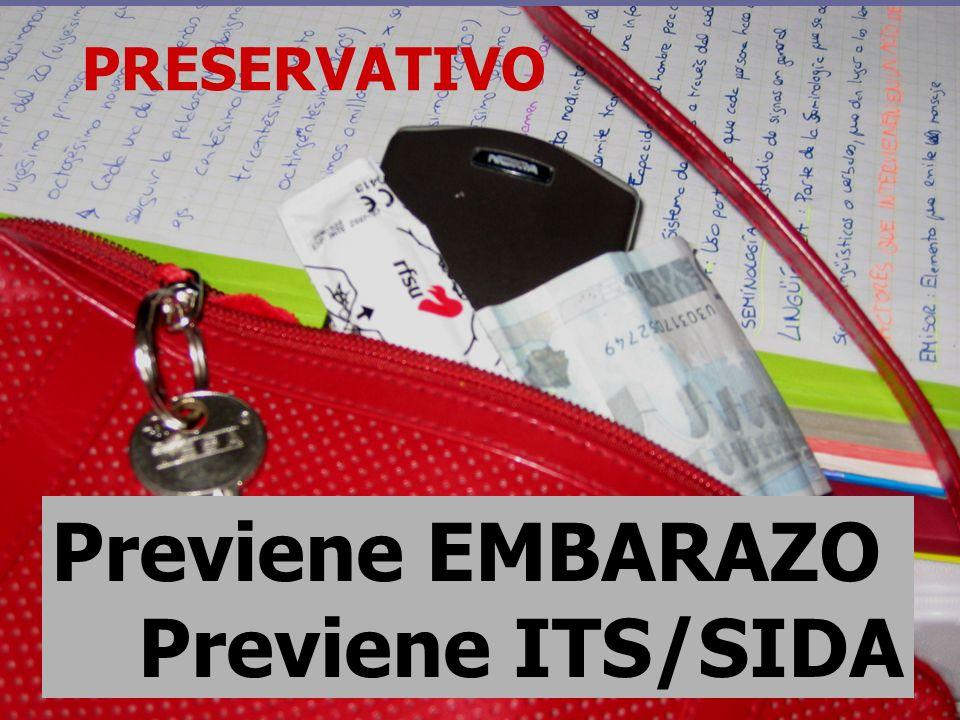 PRESERVATIVO Previene EMBARAZO Previene ITS/SIDA