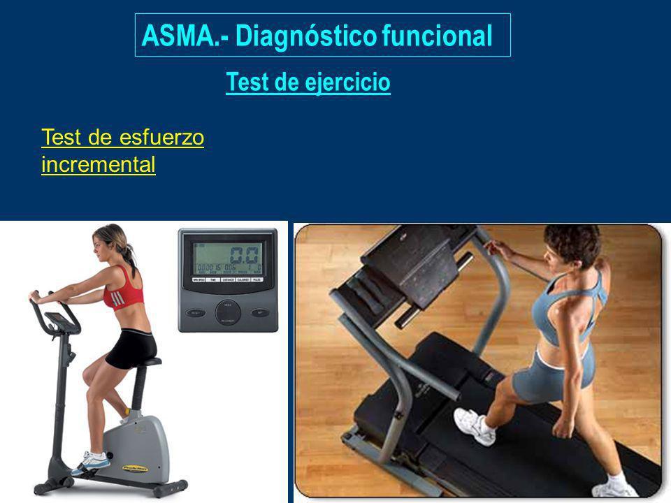 Test de ejercicio Test de esfuerzo incremental ASMA.- Diagnóstico funcional