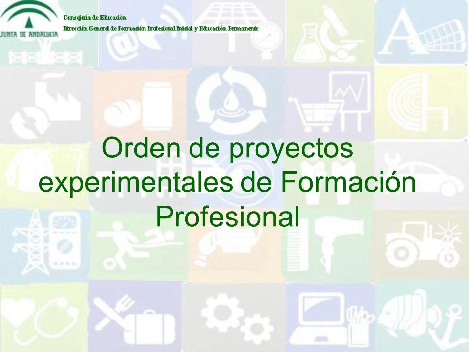 Orden de proyectos experimentales de Formación Profesional