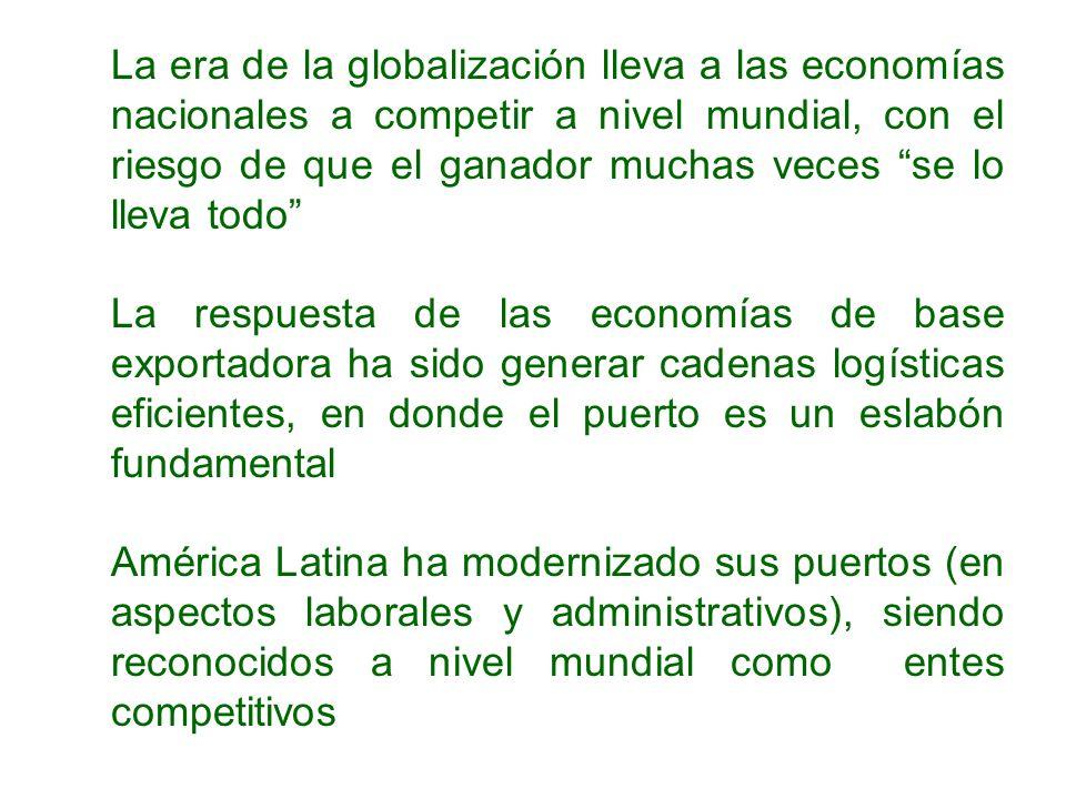 La era de la globalización lleva a las economías nacionales a competir a nivel mundial, con el riesgo de que el ganador muchas veces se lo lleva todo