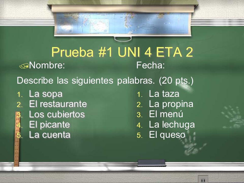 VOCABULARIO: ¿qué hacer en Oaxaca?.¿Qué es la cuenta.