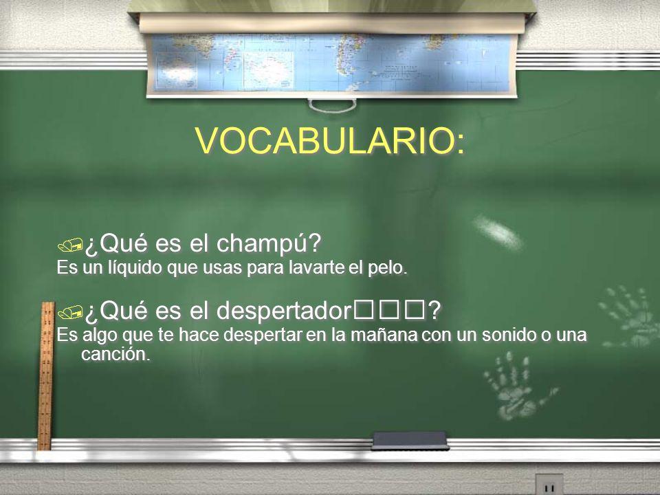 VOCABULARIO: ¿qué hacer en Oaxaca?.Comida (pág. 143 txbk) ¿Qué es el espejo.