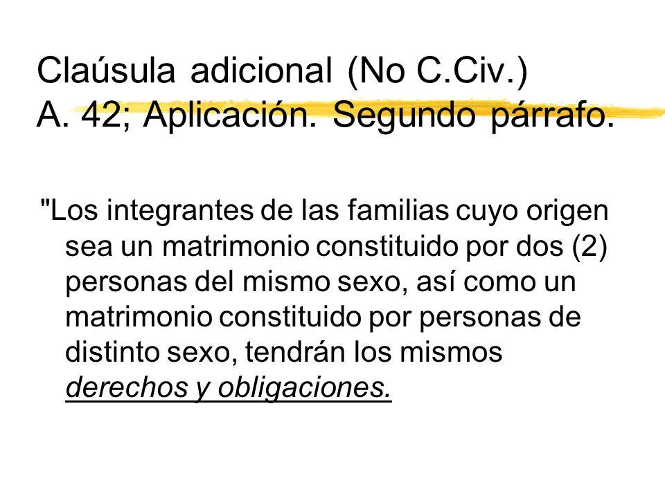 Claúsula adicional (No C.Civ.) A. 42; Aplicación.