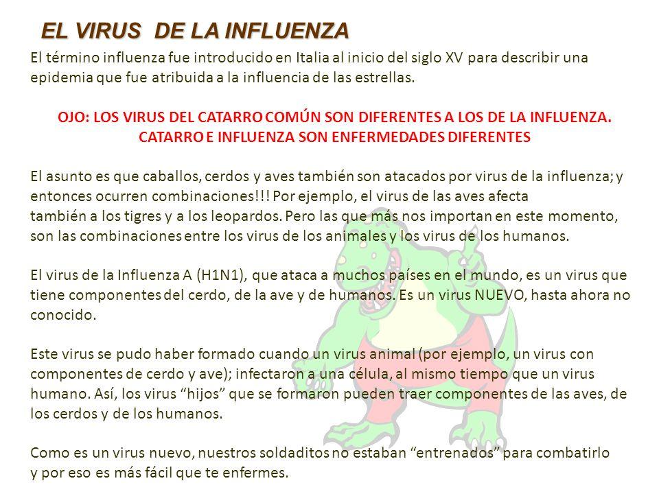 El término influenza fue introducido en Italia al inicio del siglo XV para describir una epidemia que fue atribuida a la influencia de las estrellas.