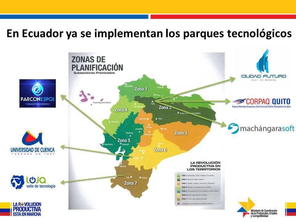 En Ecuador ya se implementan los parques tecnológicos