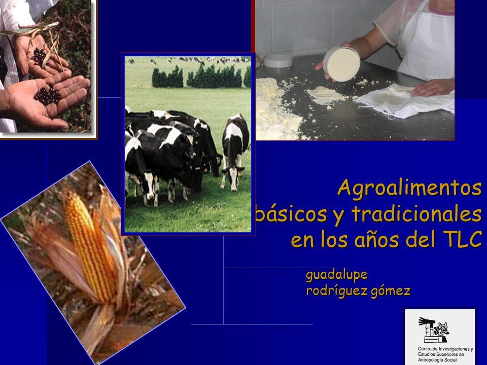 Agroalimentos básicos y tradicionales en los años del TLC guadalupe rodríguez gómez