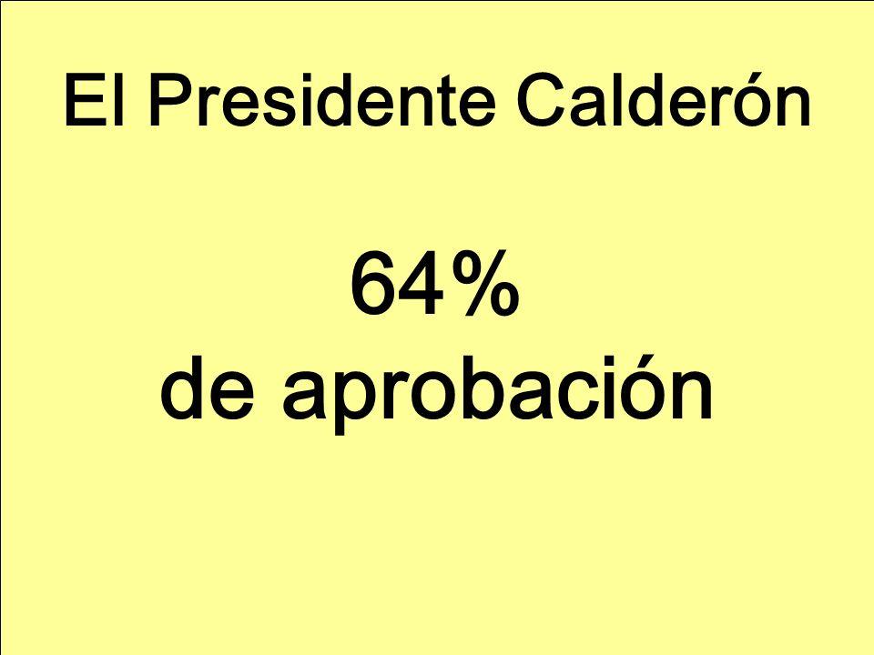 El Presidente Calderón 64% de aprobación