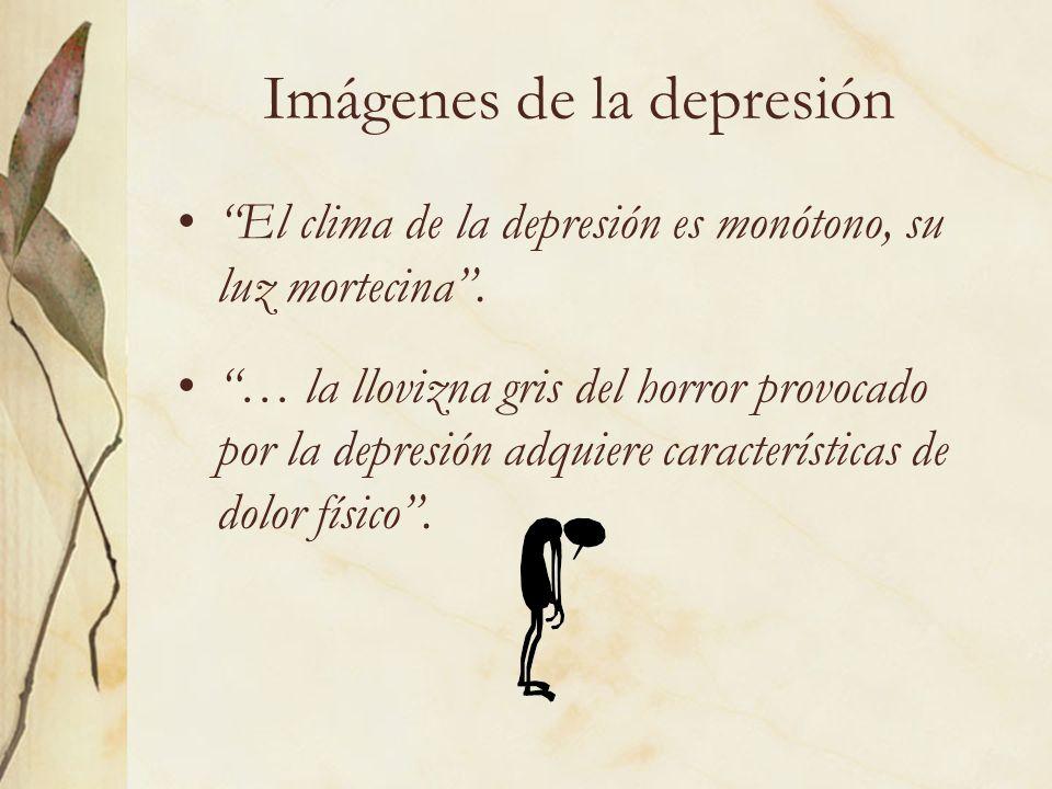 Imágenes de la depresión El clima de la depresión es monótono, su luz mortecina. … la llovizna gris del horror provocado por la depresión adquiere car