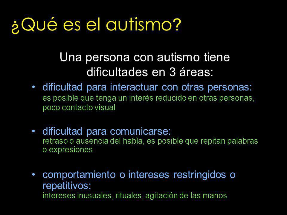 ¿Qué es el autismo ? dificultad para interactuar con otras personas: es posible que tenga un interés reducido en otras personas, poco contacto visual