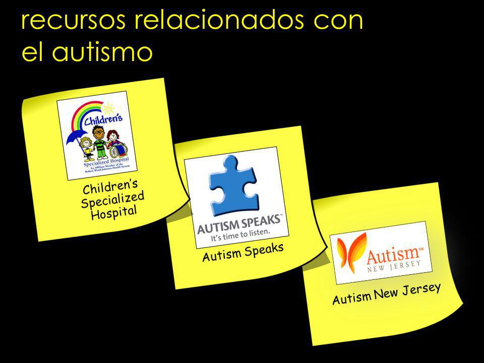 recursos relacionados con el autismo Autism Speaks Autism New Jersey Childrens Specialized Hospital