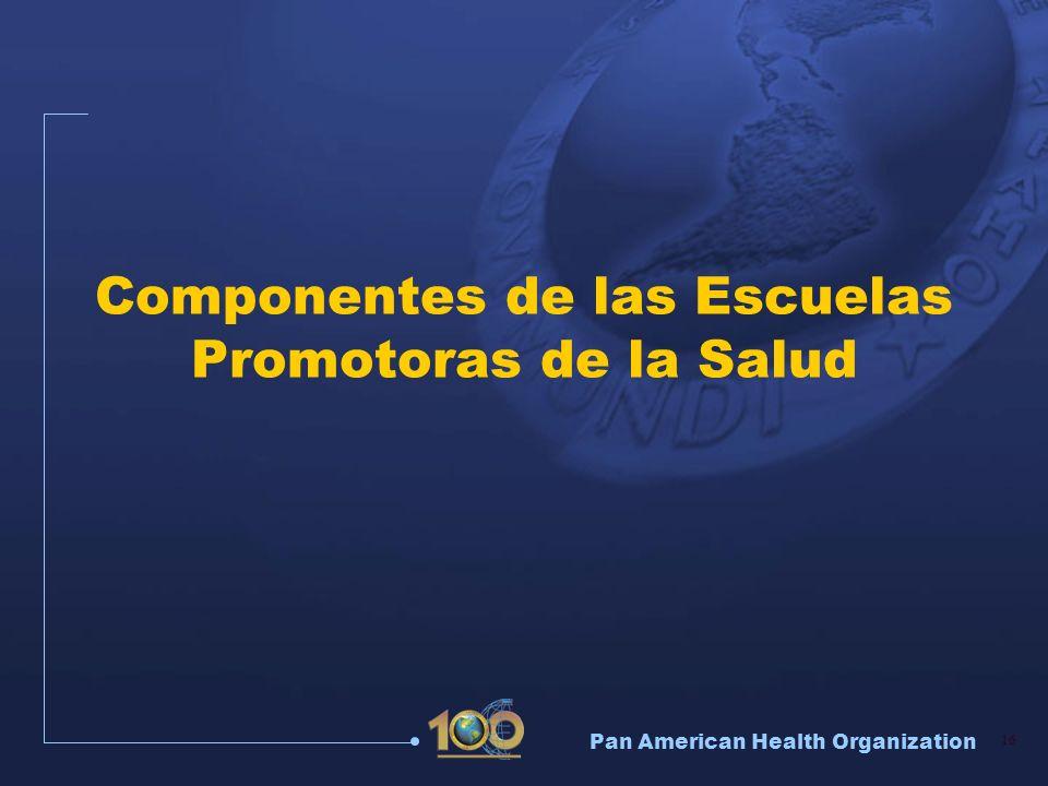 Pan American Health Organization 16 Componentes de las Escuelas Promotoras de la Salud