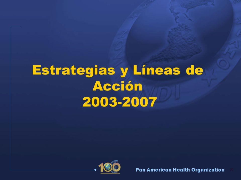 Pan American Health Organization 35 Estrategias y Líneas de Acción 2003-2007