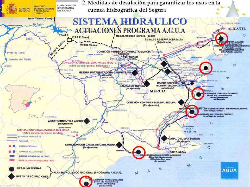 6 2. Medidas de desalación para garantizar los usos en la cuenca hidrográfica del Segura