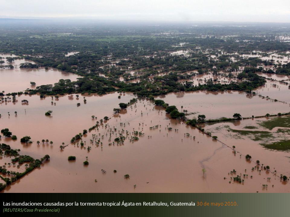 Las inundaciones causadas por la tormenta tropical Ágata en Retalhuleu, Guatemala 30 de mayo 2010.