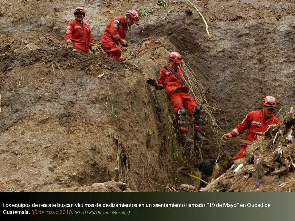 Las inundaciones causadas por la tormenta tropical Ágata en Retalhuleu, Guatemala 30 de mayo 2010. (REUTERS/Casa Presidencial)