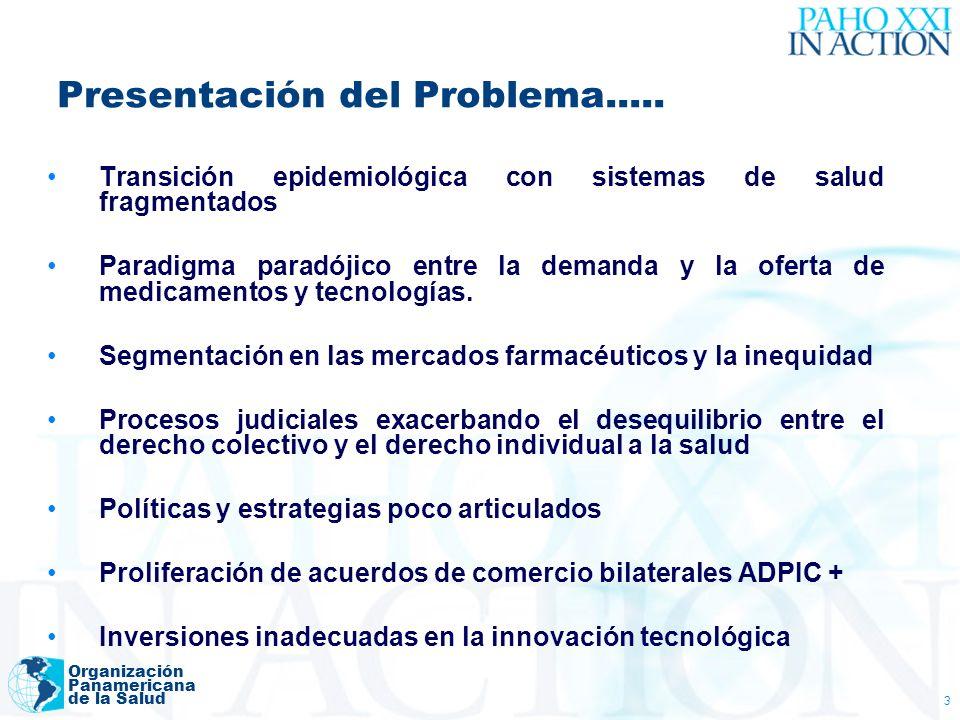 Organización Panamericana de la Salud 3 Presentación del Problema..... Transición epidemiológica con sistemas de salud fragmentados Paradigma paradóji