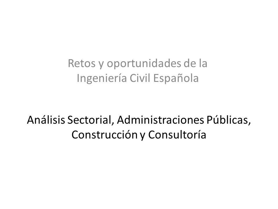 Análisis Sectorial, Administraciones Públicas, Construcción y Consultoría Retos y oportunidades de la Ingeniería Civil Española