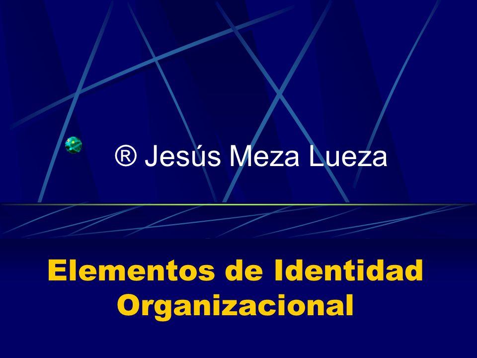 Elementos de Identidad Organizacional ® Jesús Meza Lueza