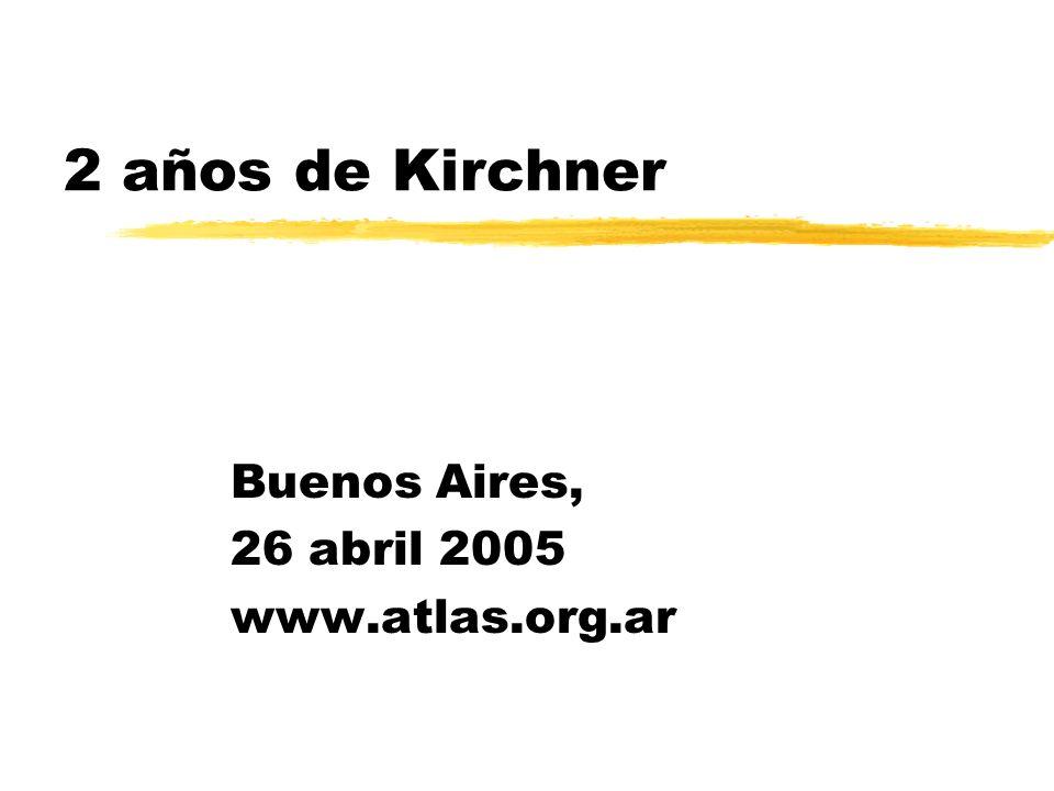 2 años de Kirchner Buenos Aires, 26 abril 2005 www.atlas.org.ar