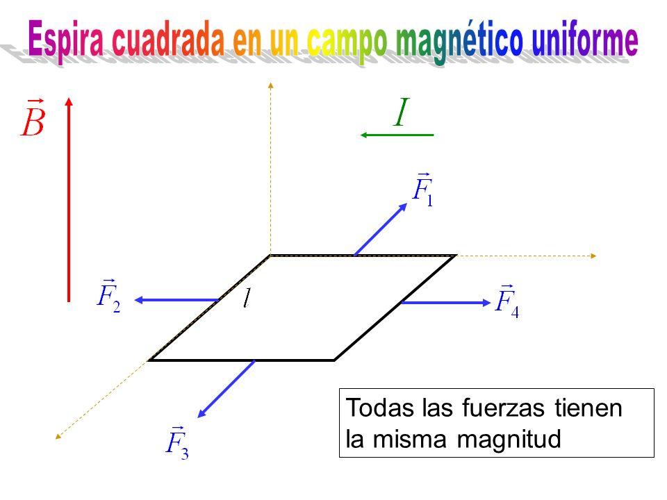 Todas las fuerzas tienen la misma magnitud