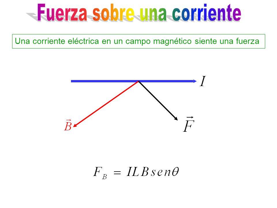 Una corriente eléctrica en un campo magnético siente una fuerza