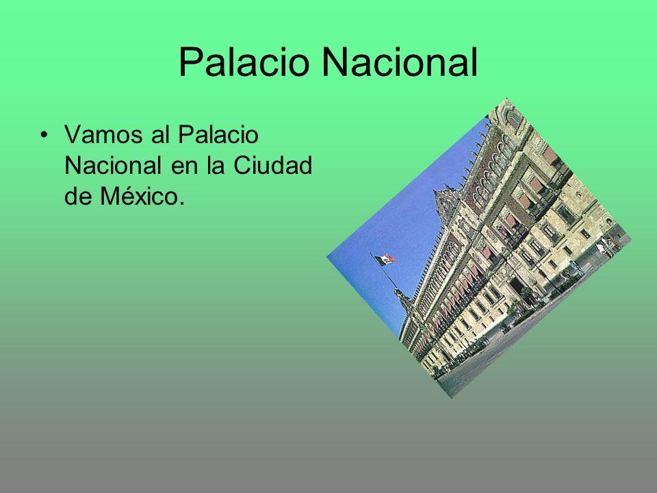 Palacio Nacional Vamos al Palacio Nacional en la Ciudad de México.