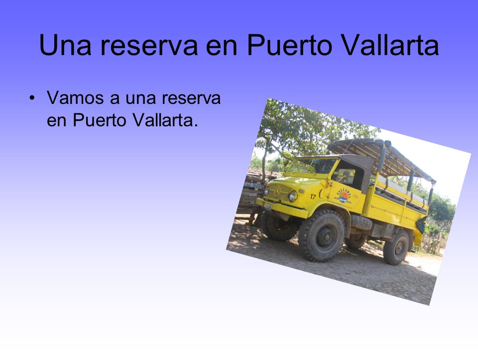 Una reserva en Puerto Vallarta Vamos a una reserva en Puerto Vallarta.