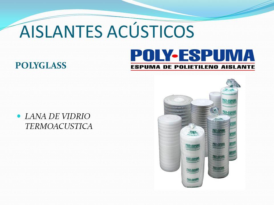 AISLANTES ACÚSTICOS POLYGLASS LANA DE VIDRIO TERMOACUSTICA