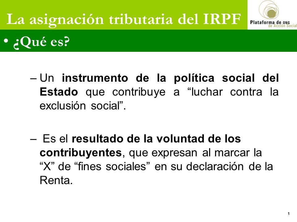 –Un instrumento de la política social del Estado que contribuye a luchar contra la exclusión social. – Es el resultado de la voluntad de los contribuy