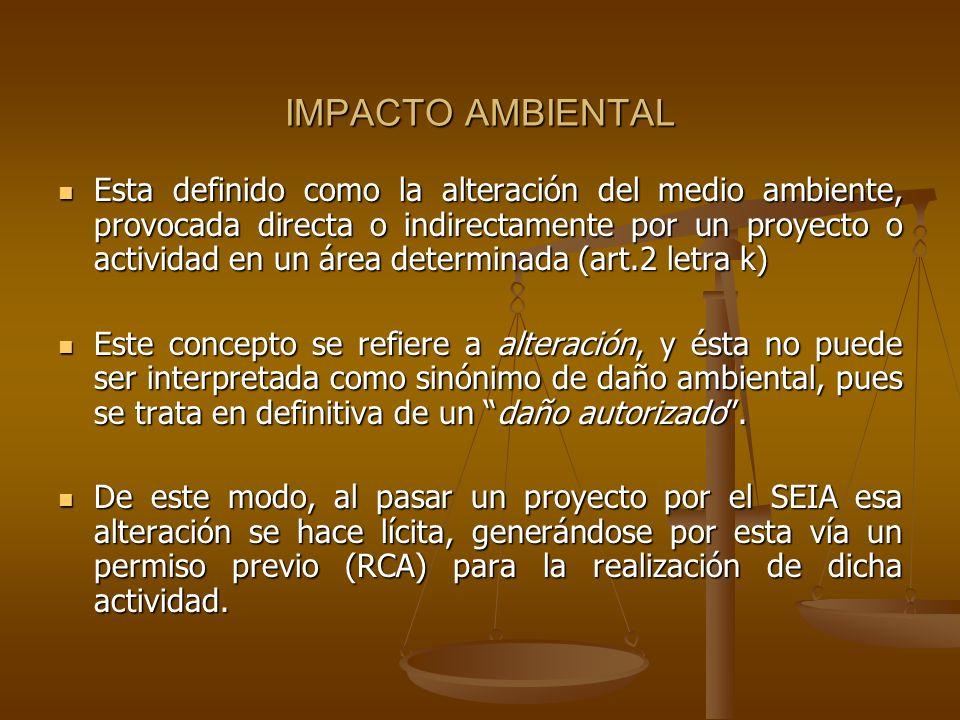 IMPACTO AMBIENTAL Esta definido como la alteración del medio ambiente, provocada directa o indirectamente por un proyecto o actividad en un área deter