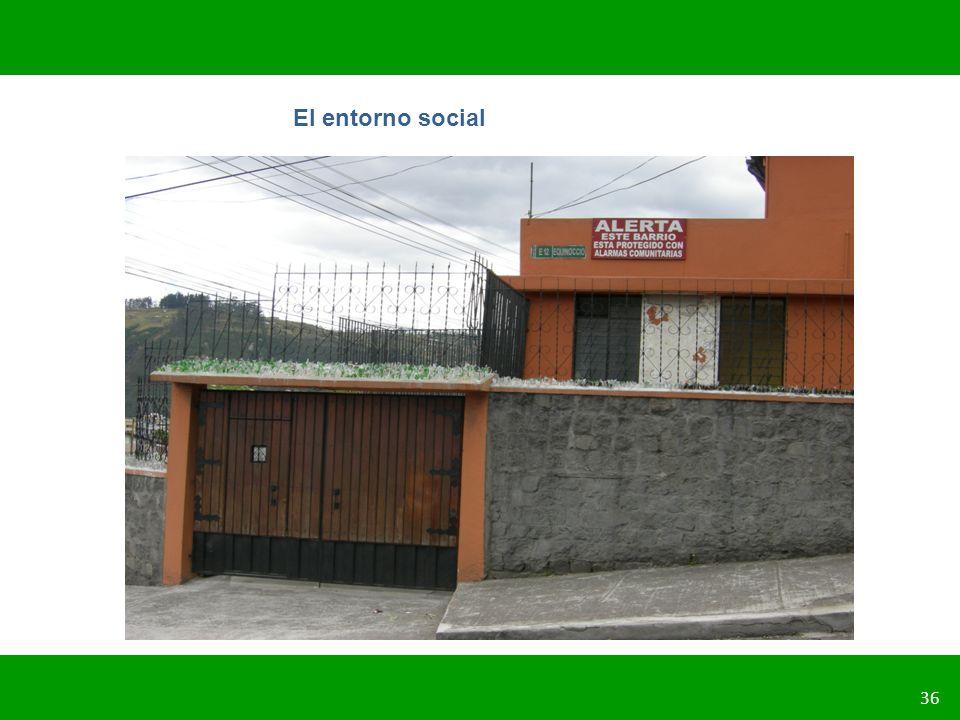 PLANIFICACIÓN DE LA SEGURIDAD VIAL URBANA 36 El entorno social