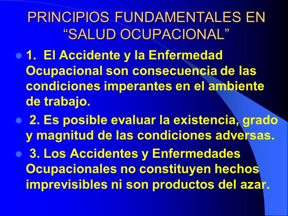 PRINCIPIOS FUNDAMENTALES EN SALUD OCUPACIONAL 1.
