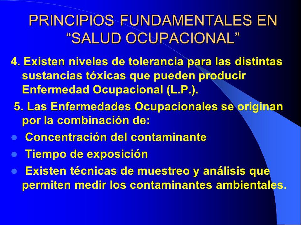 PRINCIPIOS FUNDAMENTALES EN SALUD OCUPACIONAL 4.